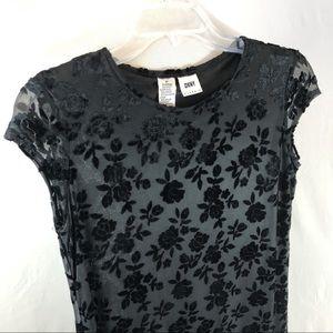 DKNY Classic velvet burnout maxi dress size 2